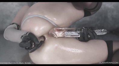 Женщина дрочит взрослыми игрушками пизду и очко перед включённой вебкой
