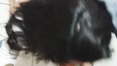 Бразильскую девку с круглой попкой через трусы отпердолил сводный братишка