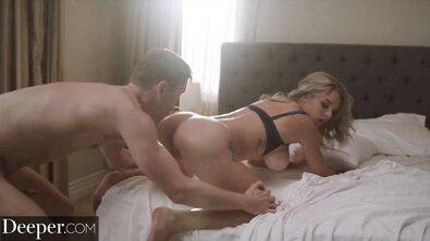 Жесткие секс игры со связыванием и трахом грудастой красотки