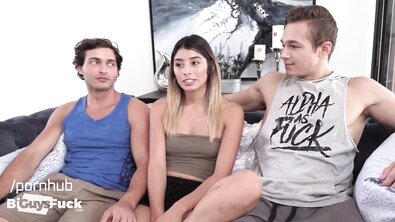 French Stud Joe Breaks his Bi-Threesome Cherry with Monster Dick Jayden and Latina Beauty Vanessa or