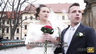Богач хорошо заплатил, чтобы трахнуть невесту на глазах у жениха